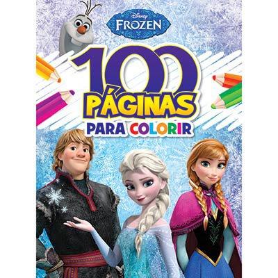 Livro para colorir infantil c/ 100 páginas Frozen Bicho Esperto PT 1 UN