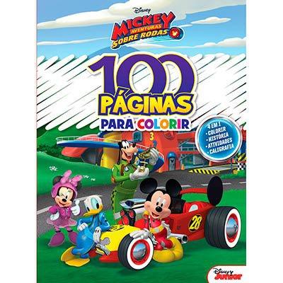 Livro para colorir infantil c/ 100 páginas Mickey Bicho Esperto PT 1 UN
