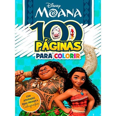 Livro para colorir infantil c/ 100 páginas Moana Bicho Esperto PT 1 UN