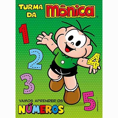 Livro infantil atividades Turma da Mônica Números Ciranda Cultural PT 1 UN