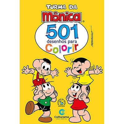 Livro para colorir infantil Turma da Mônica 270102 Culturama PT 1 UN