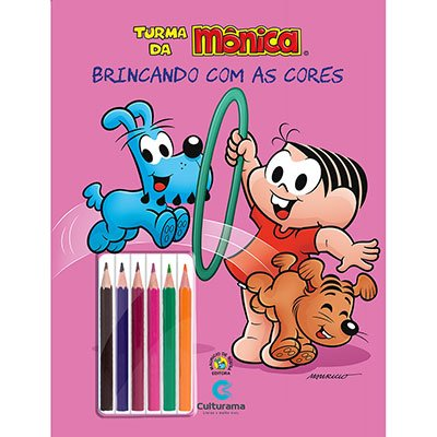 Livro para colorir infantil lápis de cor Mônica 250022 Culturama PT 1 UN