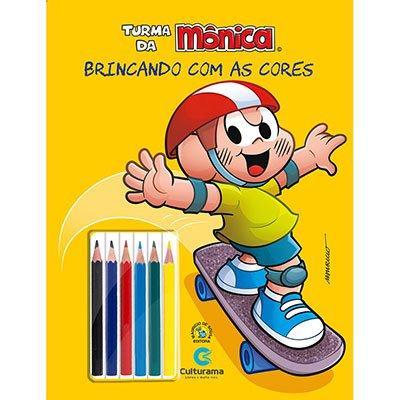 Livro para colorir infantil lápis de cor Cascão 250023 Culturama PT 1 UN