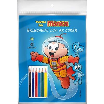 Livro para colorir infantil lápis de cor Ceboli 250024 Culturama PT 1 UN