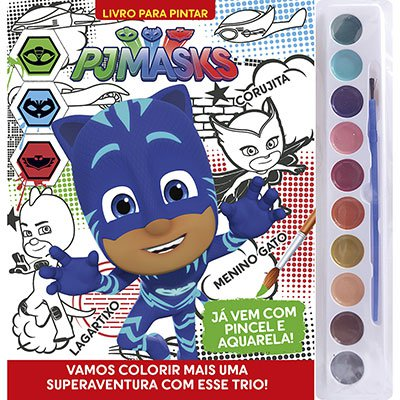 Livro para colorir infantil aquarela Masks Catavento PT 1 UN