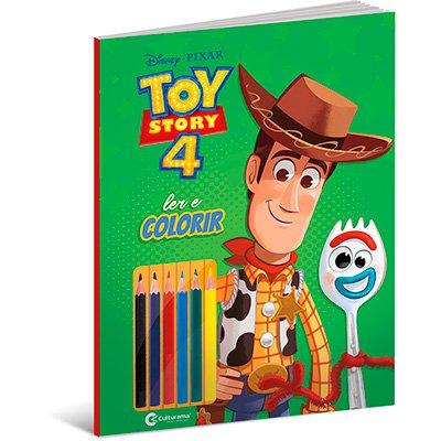 Livro para colorir infantil lápis Toy Story 4 Culturama PT 1 UN