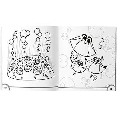 Livro para colorir infantil Baby Shark Culturama PT 1 UN