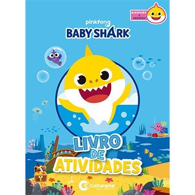 Livro para colorir infantil adesivo Baby Shark Culturama PT 1 UN