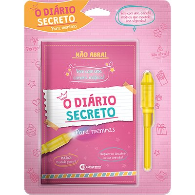 Diário infantil c/caneta Mágica Meninas Culturama PT 1 UN