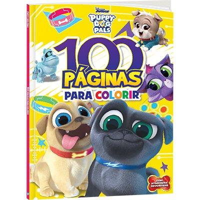 Livro para colorir infantil c/100 pág. Puppy Pals Bicho Esperto PT 1 UN
