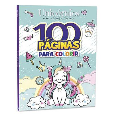 Livro para colorir infantil c/100 pág. Unicórnios Bicho Esperto PT 1 UN