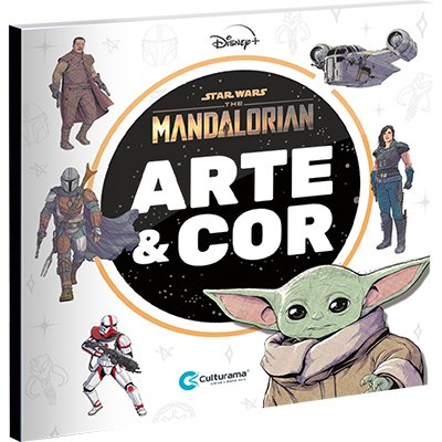 Livro para colorir arte The Mandalorian Culturama CX 1 UN
