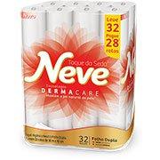 Papel higiênico folha dupla neutro c/ 30m Neve leve 32 pague 28 Kimberly PT 32 RL