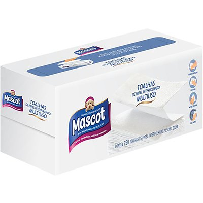 Papel toalha interfolha 20,5x22 2 dobras Mascot 058 Manikraft PT 250 FL