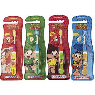 Escova dental Turma da Mônica c/capa protetora GJ-729B Frescor BT 1 UN