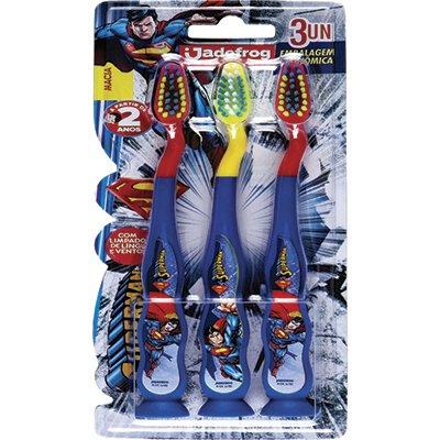 Escova dental Superman com ventosa 333 31493 Jade PT 3 UN