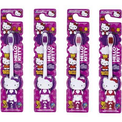 Escova dental Hello Kitty 3D com ventosa 341 16681 Jade PT 1 UN