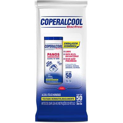 Pano umedecido Bacfree 70 Ação Prolongada Flow Coperalcool PT 50 UN