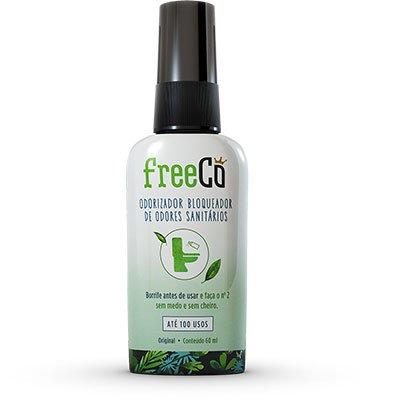 FreeCô Original - Essência Capim-limão - Odorizador Bloqueador de Odores Sanitários 60ml PT 1 UN