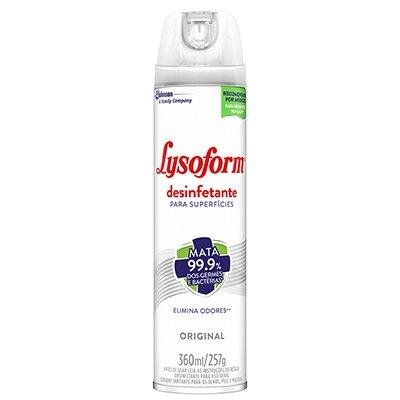 Desinfetante aerossol Lysoform original 360ml 6861 Johnson PT 1 UN
