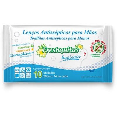 Lenço umedecido antisséptico Freshquitas C10 Pam Pam PT 10 UN
