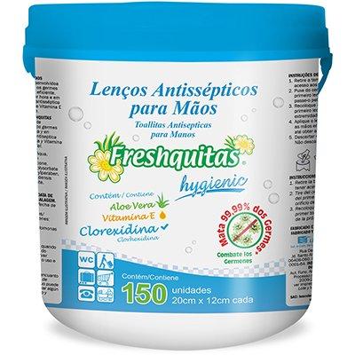 Lenço umedecido antisséptico Freshquitas C150 Pam Pam PO 150 UN