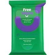 Lenços Umedecidos Antissépticos Free Wipes para Higienização das Mãos e Superfícies - FreeCô - PT 20 UN