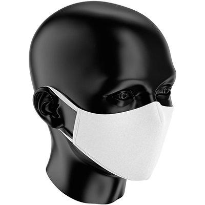 Máscara lavável em tecido dupla camada branca 3410 Sizely PT 1 UN