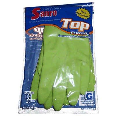 Luva forrada top verde grande Sanro PT 1 UN