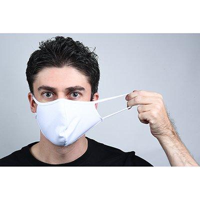 Máscara lavável em tecido branca 0613-C5 Darea PT 5 UN