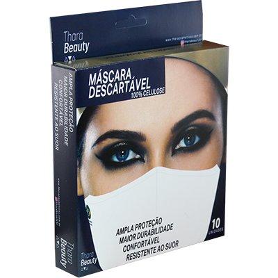 Máscara descartável em 100% Celulose PK10 Thara Beauty PT 10 UN