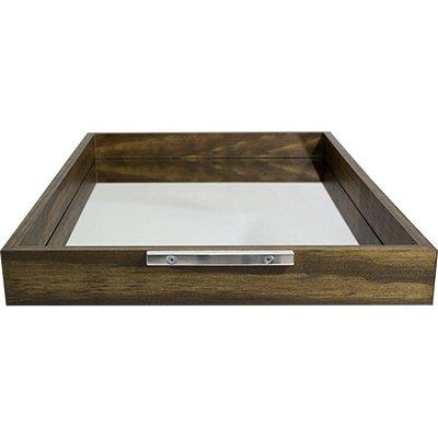 Bandeja 30x45cm madeira espelhada Rústica 9043 Decorex PT 1 UN