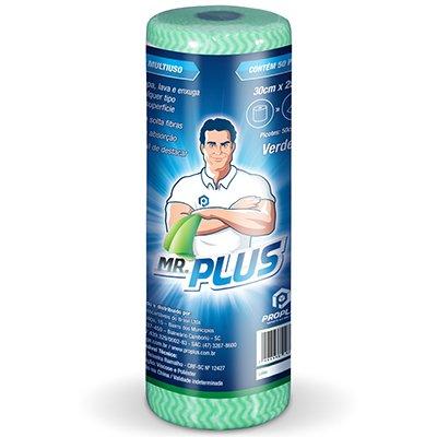 Pano multi-uso 30x50cm c/50 panos verde Mr. Plus Talge PT 1 RL