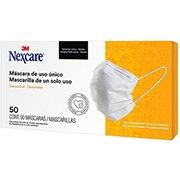 Máscara descartável em TNT c/clipe nasal Nexcare 7000705941 3M CX 50 UN