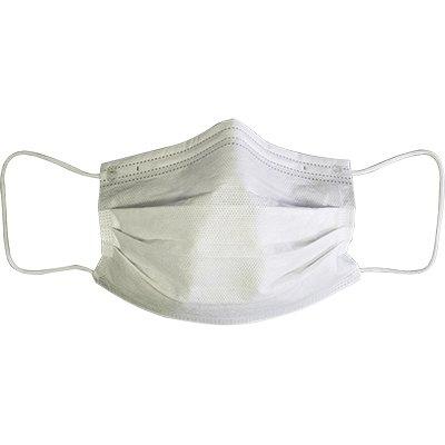 Máscara descartável em TNT c/clipe nasal branco Texstan PT 10 UN