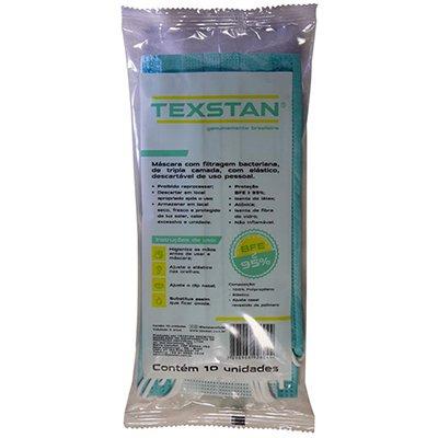 Máscara descartável em TNT c/clipe nasal verde Tiffany Texstan PT 10 UN