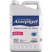 Álcool em gel antisséptico 4,3kg Asseptgel Start Quimica PT 1 UN