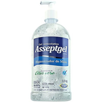 Álcool em gel antisséptico 1kg Asseptgel Start Quimica PT 1 UN