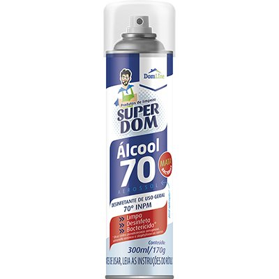 Álcool 70% aerossol 300ml Super Dom Baston PT 1 UN