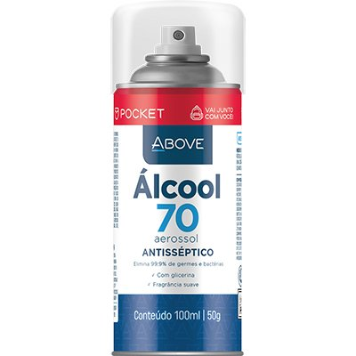 Álcool 70% aerossol 100ml Above Baston PT 1 UN
