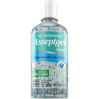 Álcool em gel antisséptico 52gr Asseptgel azul Start Quimica PT 1 UN