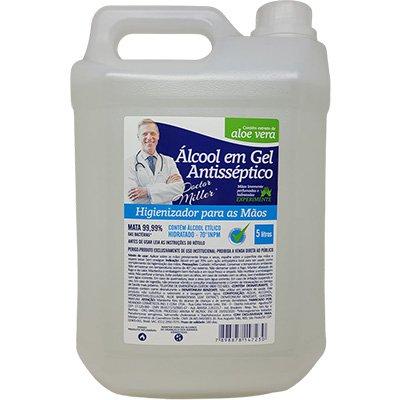 Álcool em gel antisséptico 5L AG003 Doctor Miller PT 1 UN
