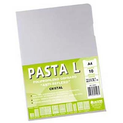 Pasta plástica em L pp 0,12 A4 cristal gofrado 1440 Chies PT 10 UN