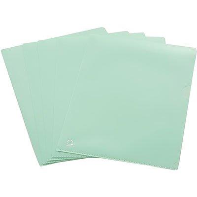 Pasta plástica em L pp 0,15 A4 verde pastel L15A4 Plascony PT 5 PT