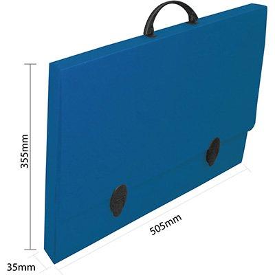 Maleta novaonda A3 505x355x35 azul Polibrás PT 1 UN