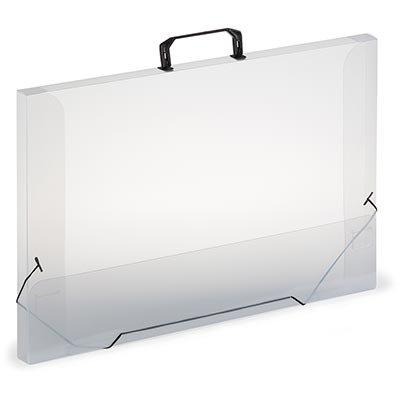 Maleta A3 transparente com dorso de 30mm DT30MTR Plascony PT 1 UN