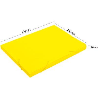 Pasta novaonda escolar 335x250x20mm amarela Polibrás PT 1 UN