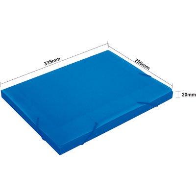 Pasta novaonda escolar 335x250x20mm azul Polibrás PT 1 UN