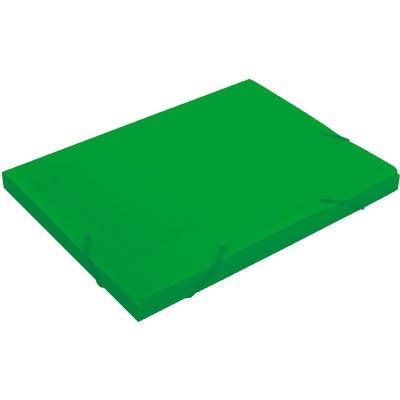 Pasta novaonda escolar 335x250x20mm verde Polibrás PT 1 UN