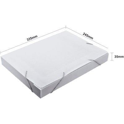 Pasta novaonda ofício 335x245x35mm cristal translúcido Polibrás PT 1 UN